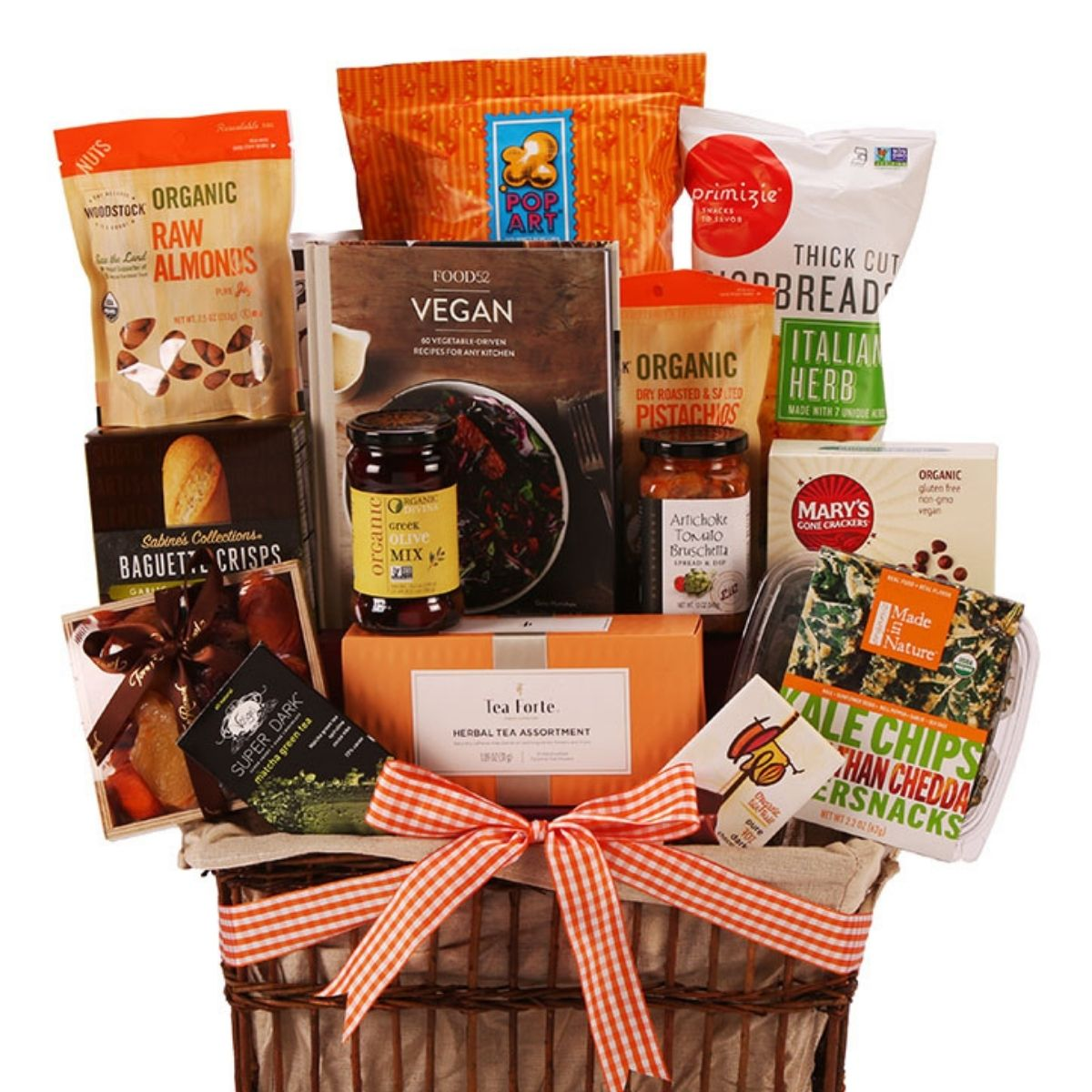 Gourmet Gift Basket with Cookbook