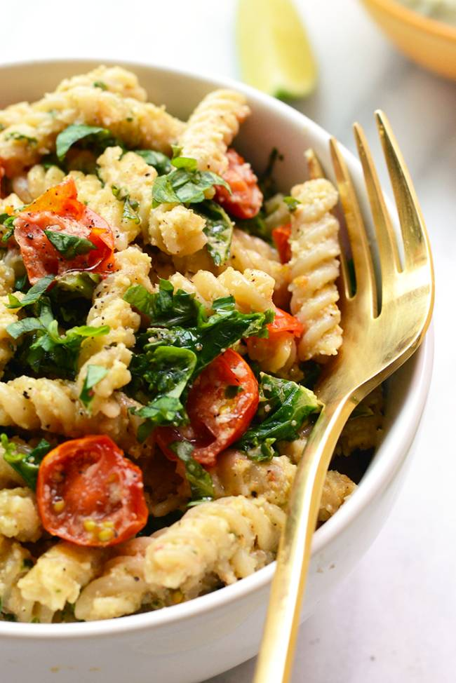 """Cheezy"" Pasta with Kale"