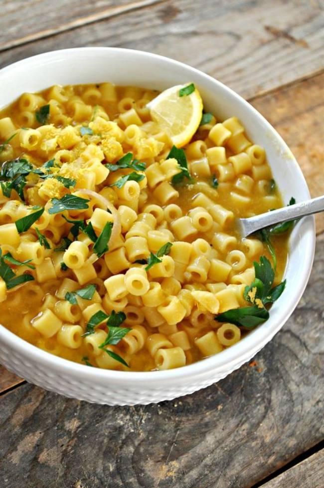 Garlick 'Parmesan' Pasta Soup