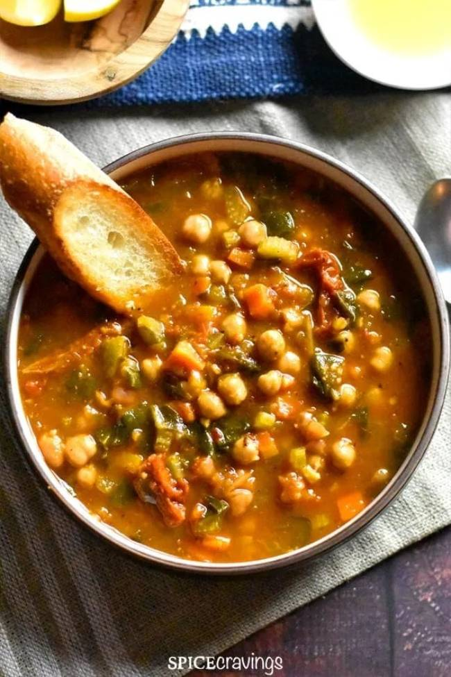 Moroccan Chickpea Soup (Instant Pot)