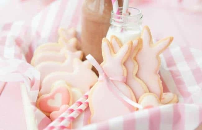 Strawberry Sugar Cookie Bunnies